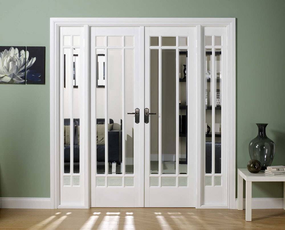 Interior Double Doors French Sidelights