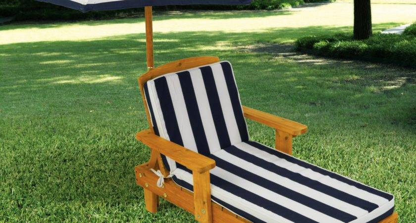 Kidkraft Outdoor Chaise Umbrella Navy Stripe