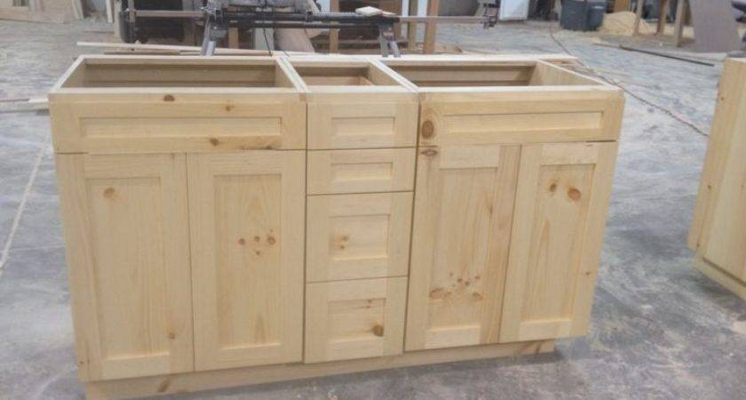 Knotty Pine Vanities Frameless Natural Finish Turned Out