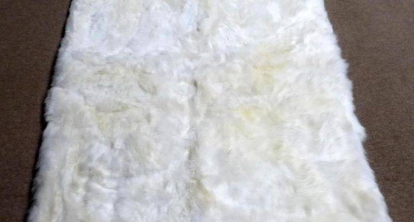 Large White Faux Sheepskin Rug Buethe