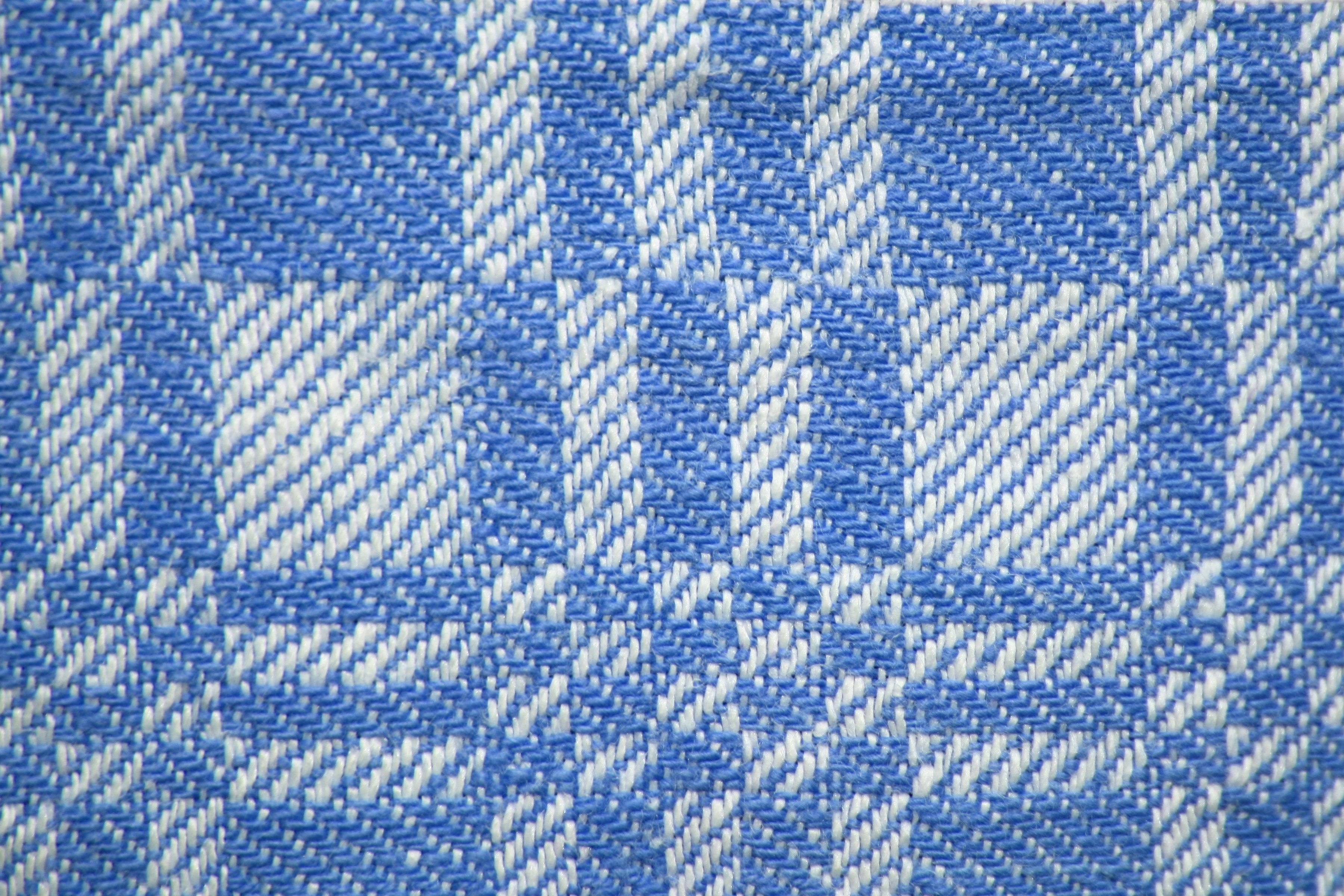 Light Blue White Woven Fabric Texture Squares Pattern