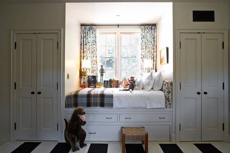 Little Boy Room Incorporates Built Bed Adds Lots