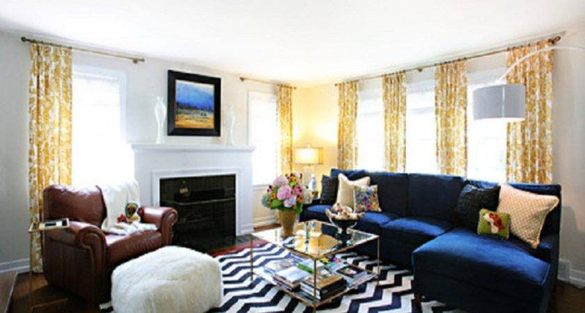 Living Room Cool Rooms Modern Home Design Blue Sofa Also