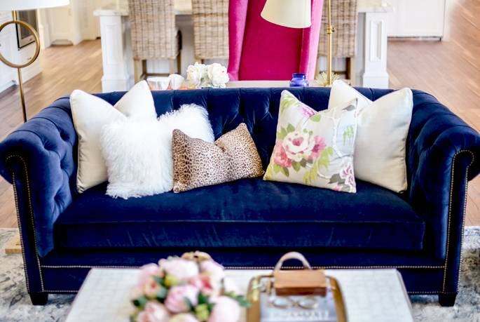 Living Room Reveal Pink Peonies Rach Parcell