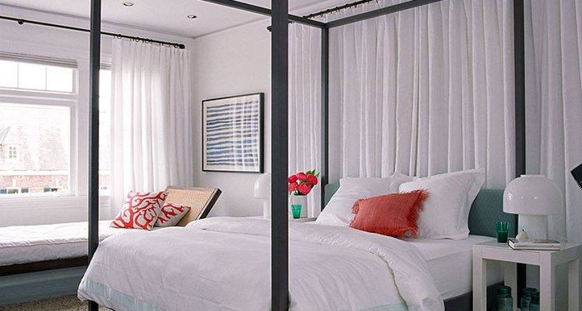 Love Curtain Behind Bed Rooms Spaces Pinterest