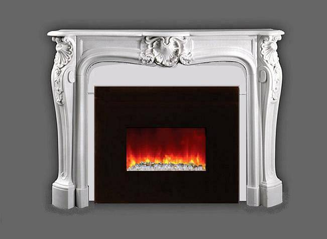 Marble Mantel Italian Bianco Our Electric Fireplace