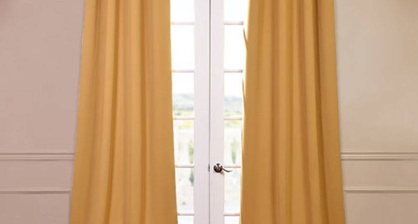 Marigold Yellow Inch Blackout Curtain Pair Panel