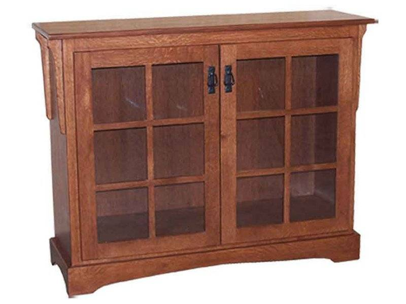 Mission Small Bookcase Two Doors Brandenberry Amish
