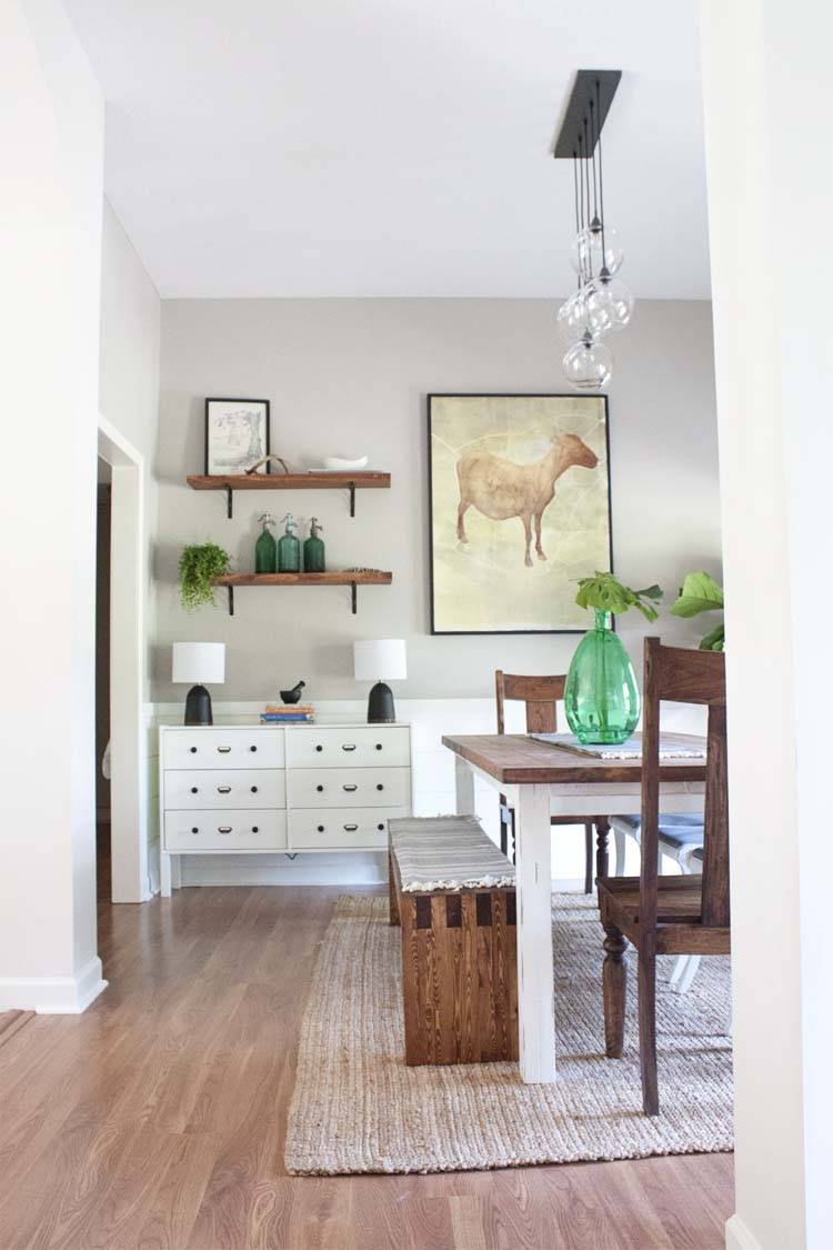 Modern Farmhouse Dining Room Makeover Reveal Southern