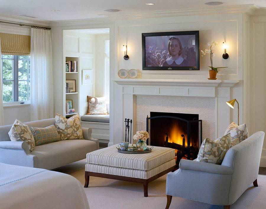 Modern Traditional Fireplace Interior Design Ideas