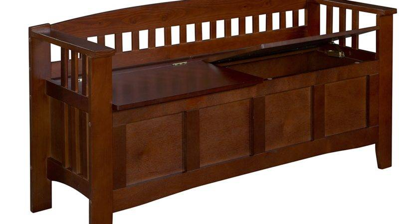 New Wood Split Seat Storage Bench Entryway Dining Room
