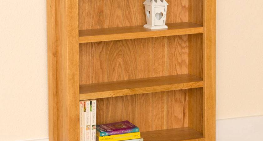 Newlyn Oak Small Bookcase Light Handcrafted
