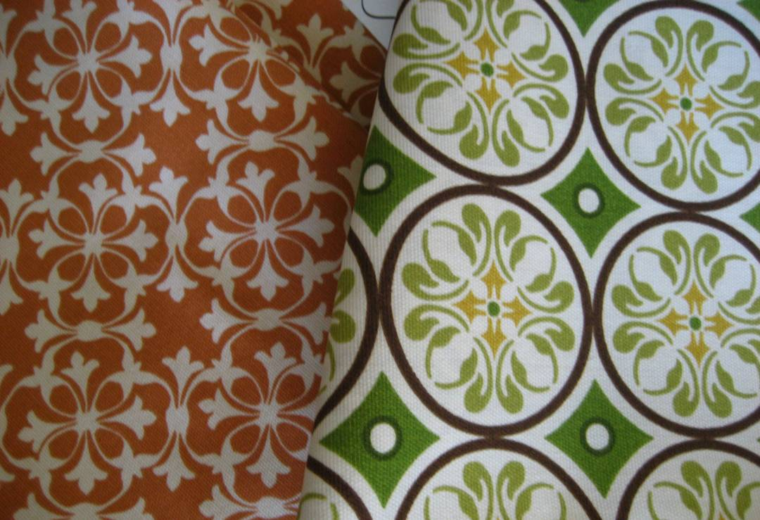 Outdoor Fabric Orange One Home Decorator Collection