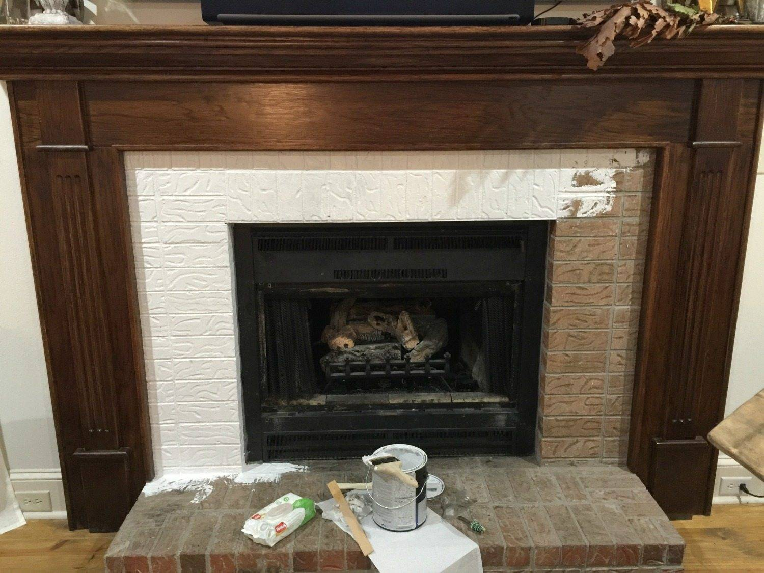 Paint Your Fireplace Brick Mantel Refresh Restyle