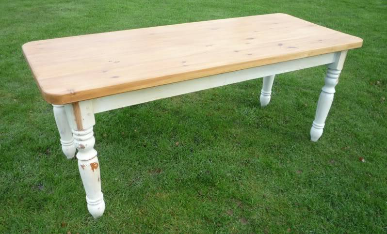 Painted Distressed Kitchen Table Farrow Ball Lime White