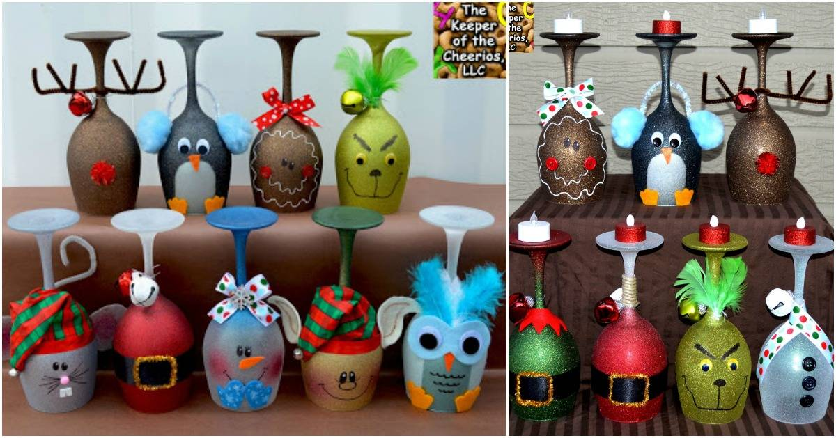 Painting Ideas Christmas Ify Your Wine Glasses Diy Crafts