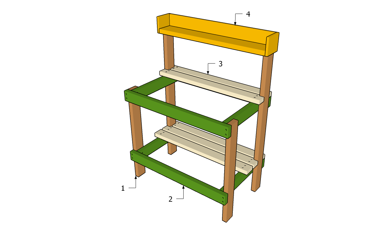 Pdf Diy Garden Potting Table Plans Arbor