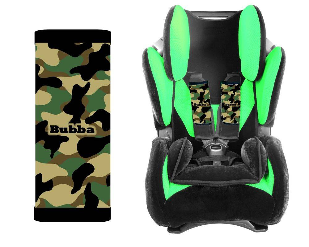 Personalized Baby Toddler Car Seat Strap Covers Camo Camoflauge Ebay