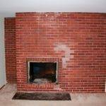 Photography First New House Project Painting Brick Fireplace