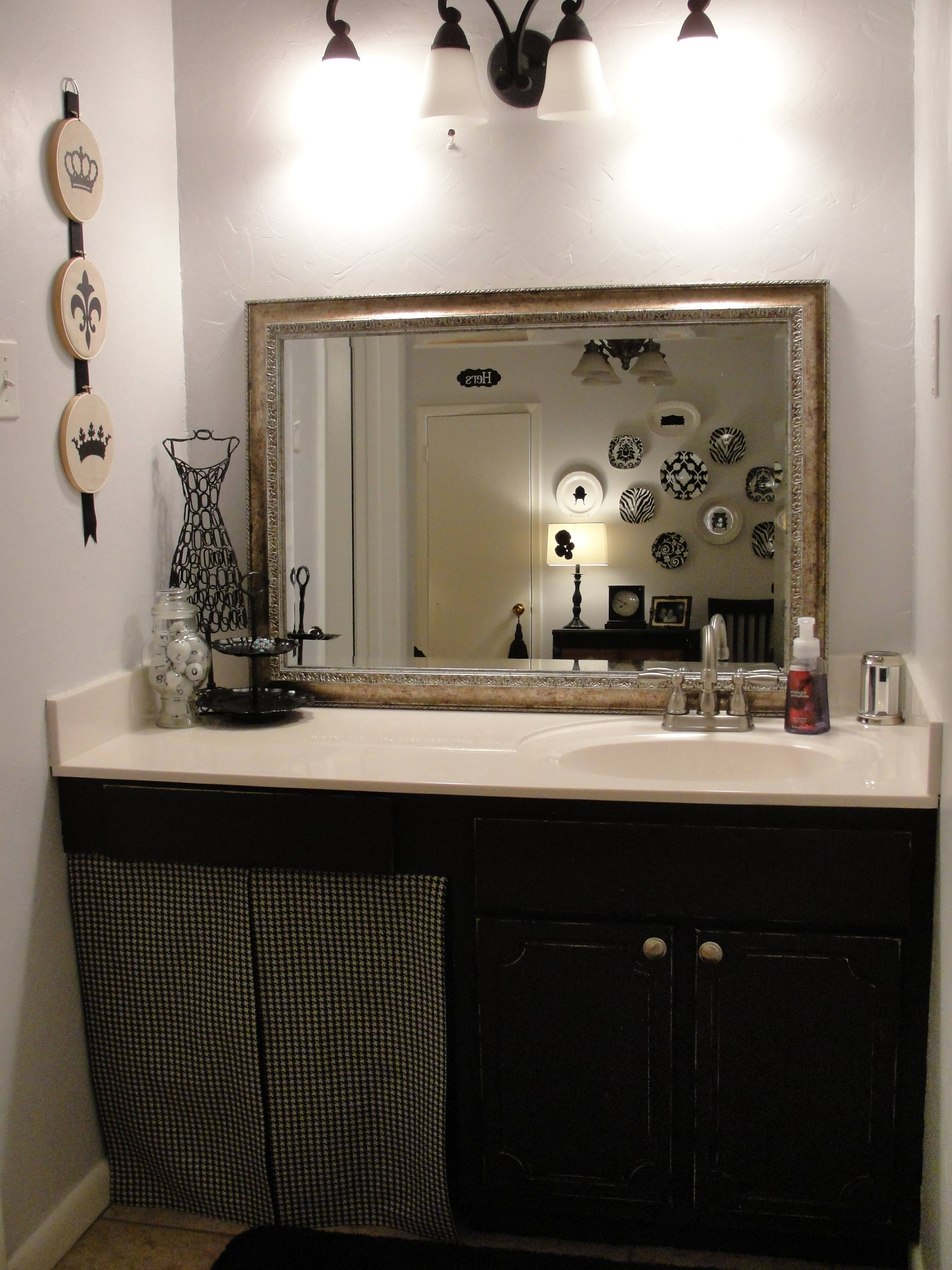 Picturesque Black Painting Bathroom Cabinets Single