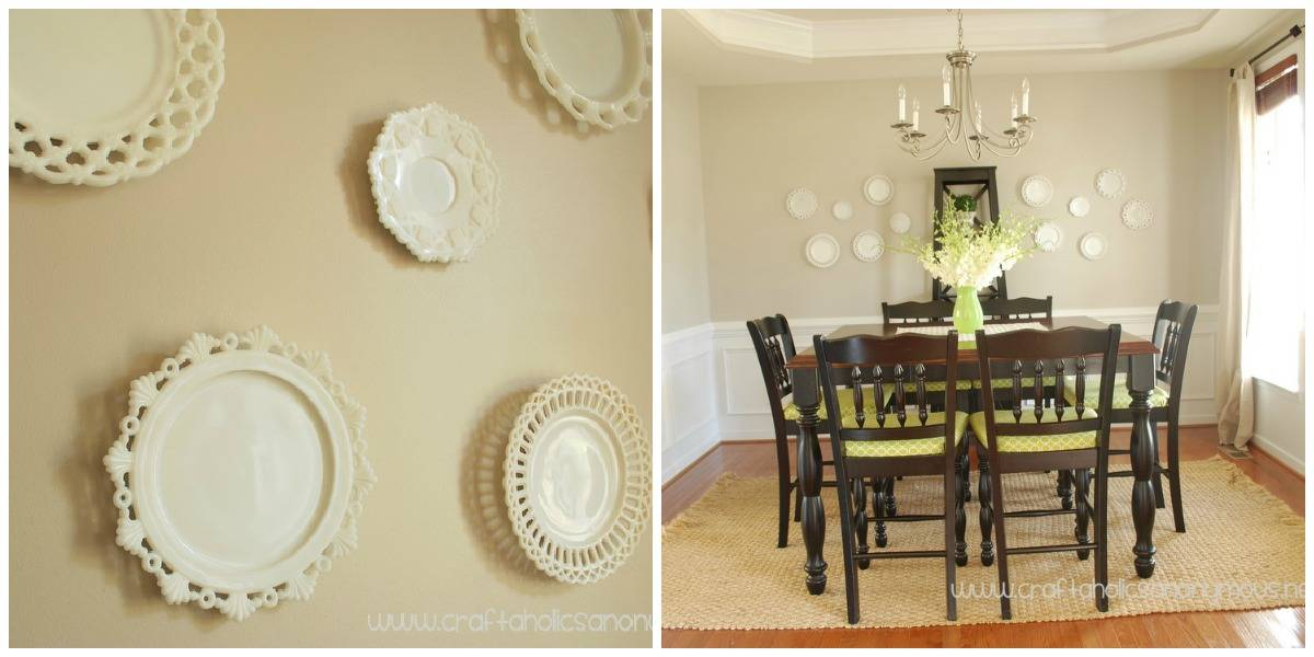 Plate Wall Collage Dining Room Diningroomstyle