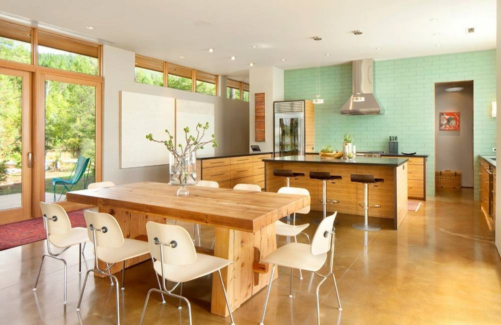 Pop Green Their Kitchen Via Cta Architects Engineers