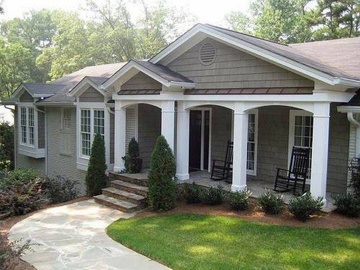 Porch Ranch Style Home Decorations Beautiful Ideas Front