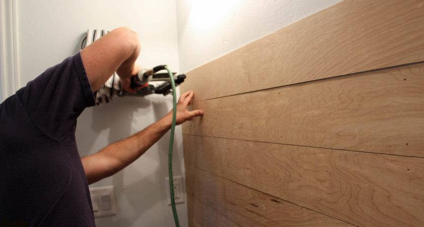 Powder Bathroom Plank Walls Sneak Peak Wood