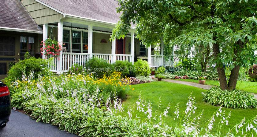 Pretty Curb Appeal Landscaping Front Porch House Speciment Tree