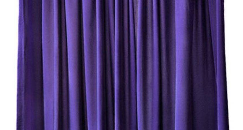 Purple Velvet Inch Long Curtain Panel Large Special Event