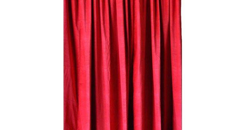 Red Velvet Curtain Panel Inch Long Nightclub Bar