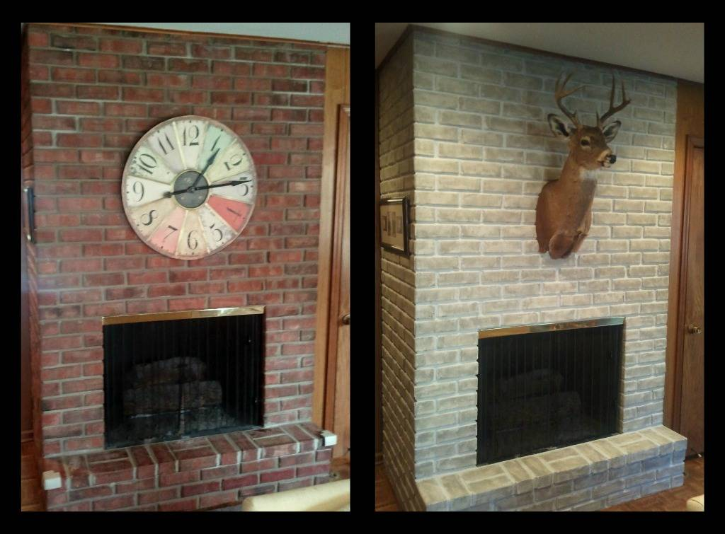 Reluctance Paint Brick Fireplace