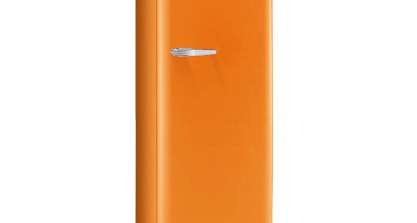 Retro Style Fridge Orange Fab Smeg