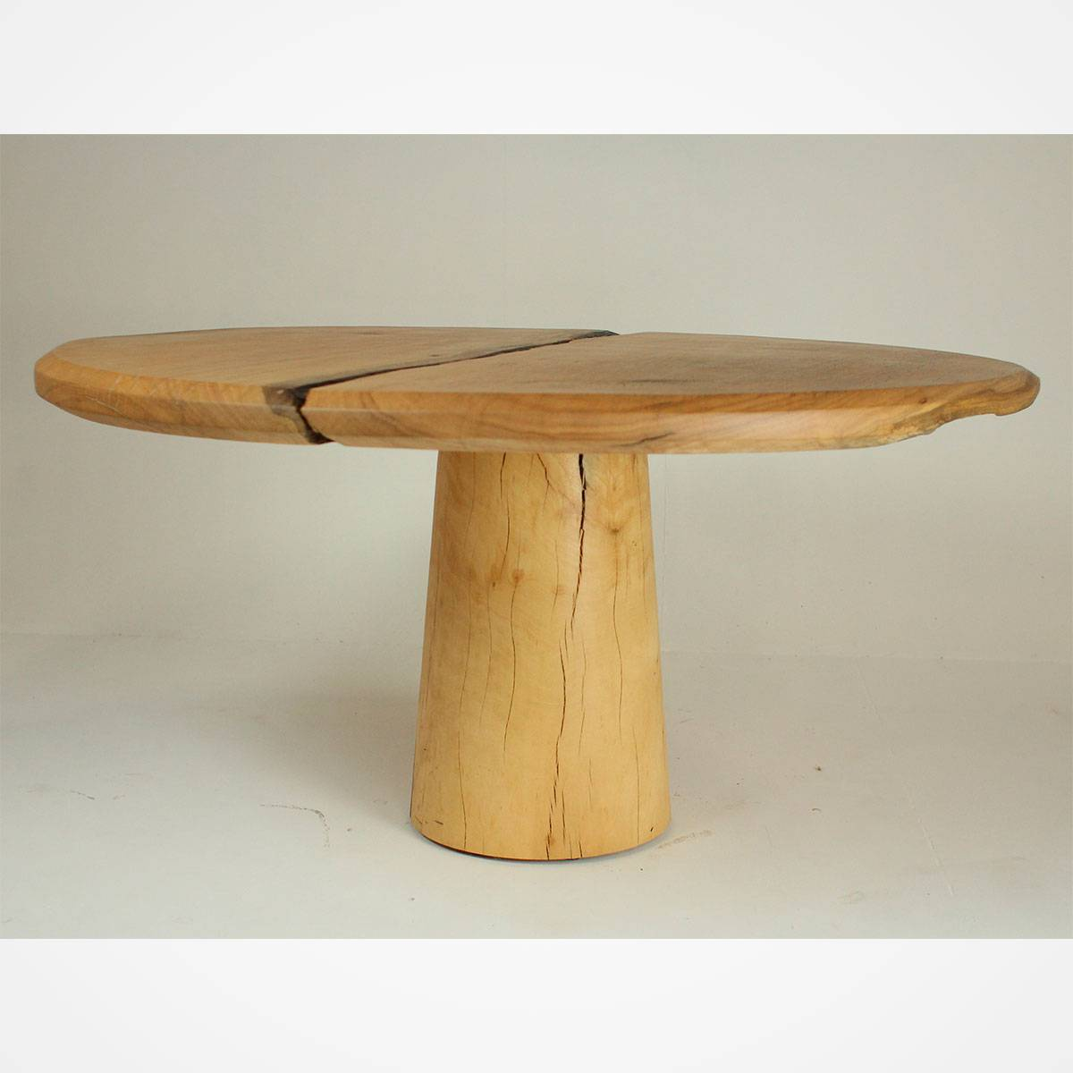 Round Distressed Wood Top Dining Table Rotsen Furniture