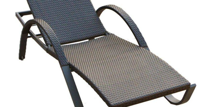 Rst Brands Deco Stacking Patio Lounge Chaise Peal