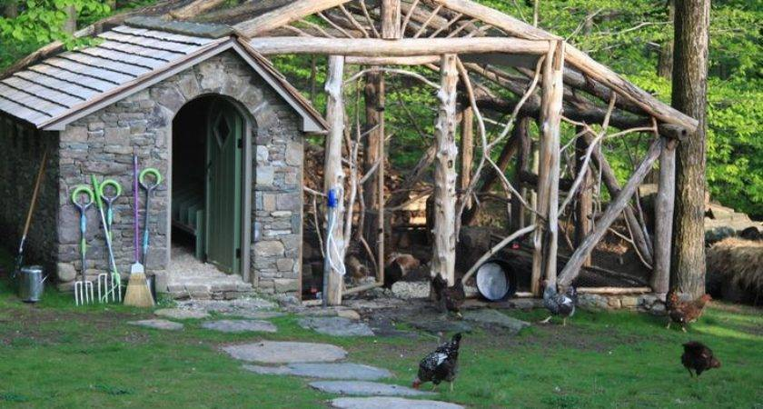 Rustic Design Awesome Chicken Coop Homesteading Pinterest
