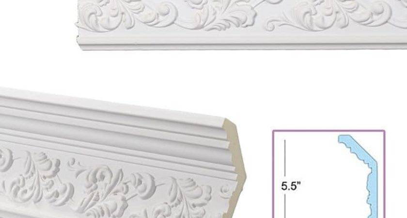 Scrolling Leaf Inch Crown Molding Overstock