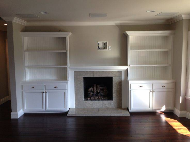 Shelves Around Fireplace Built Ins Cabinets