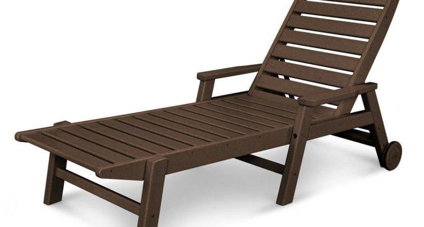 Shop Polywood Nautical Plastic Chaise Lounge Chair