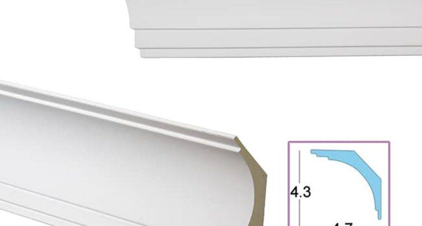 Smooth Cove Inch Crown Molding Overstock