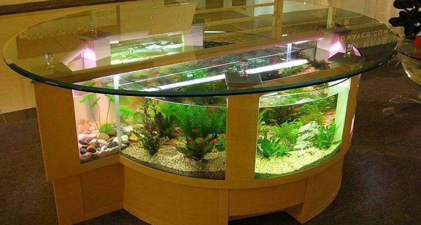 Stylish Home Decoration Unique Fish Tanks Ergonomic Office