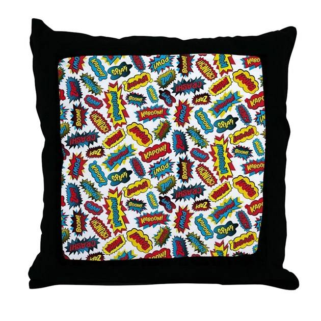 Super Words Throw Pillow Listing Store