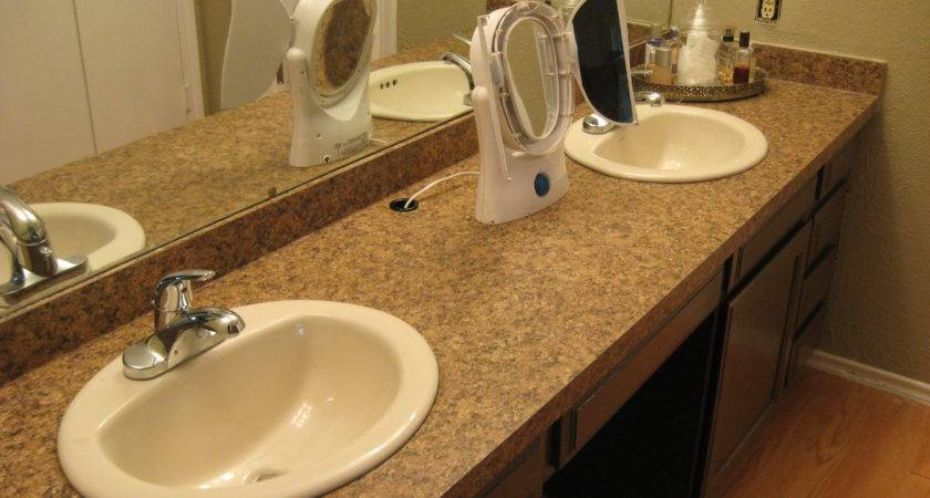 Taking Off Old Bathroom Laminate Countertop