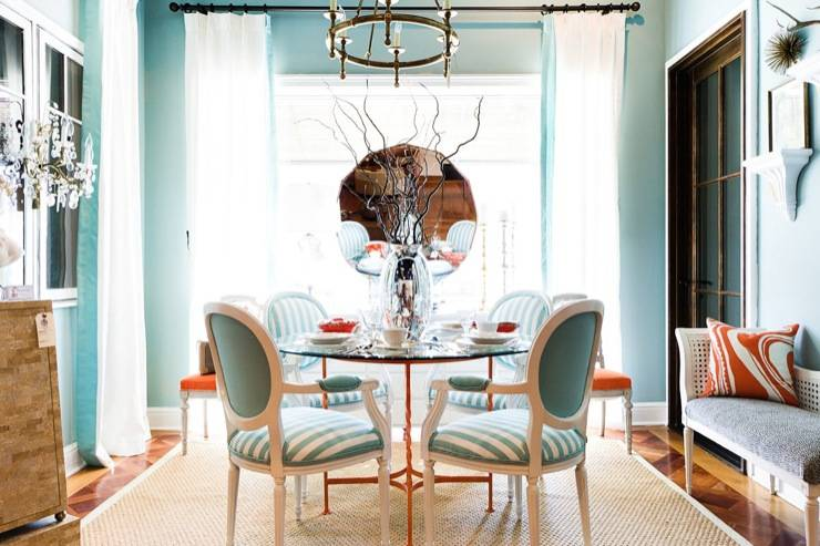 Turquoise Dining Room Contemporary Interiors