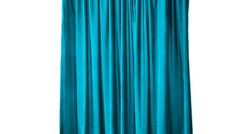 Turquoise Velvet Inch Curtain Long Panels Wide Beautiful
