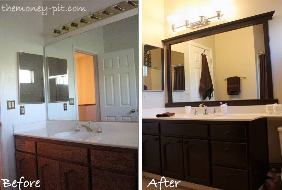 Tutorials Out There Frame Plate Glass Bathroom Mirror