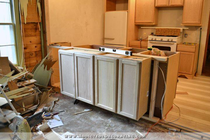 Two Cabinets Installed Using Inch Deep Wall
