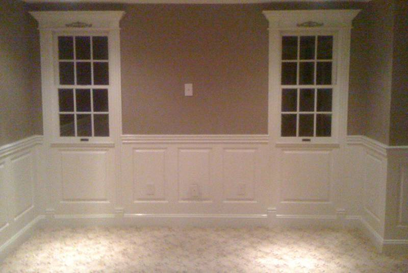 Wainscoting Raised Panel Classic Installed Bedroom Hingham