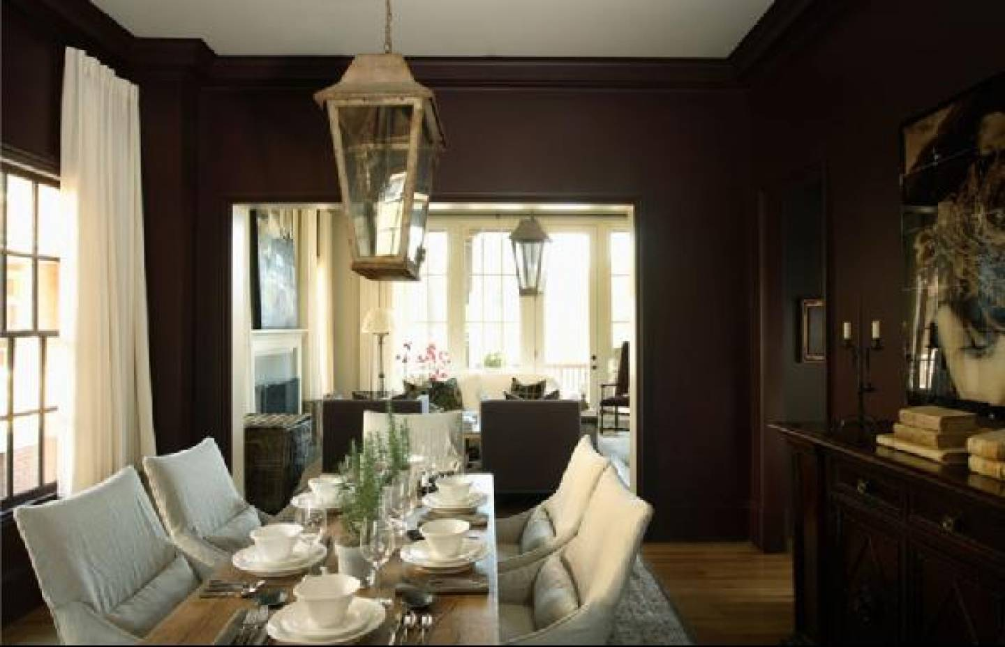 Walls Chocolate Brown Dining Room