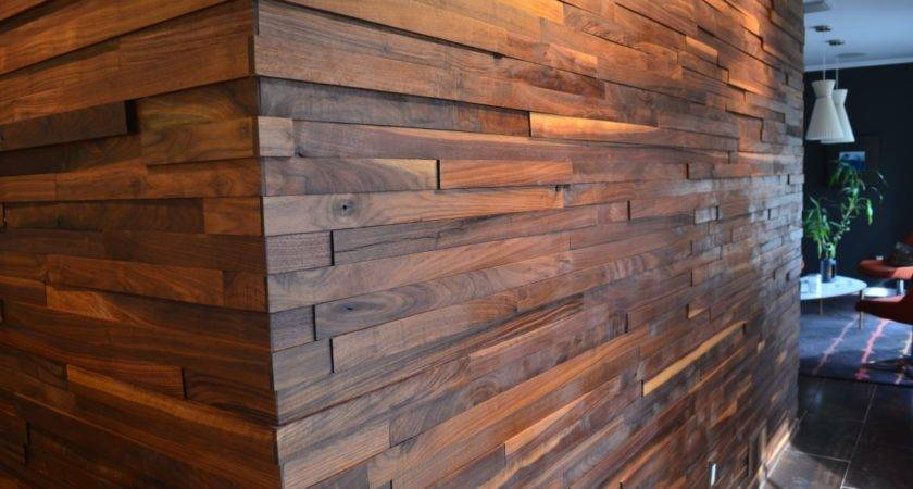 Walnut Plank Wall Two Chair